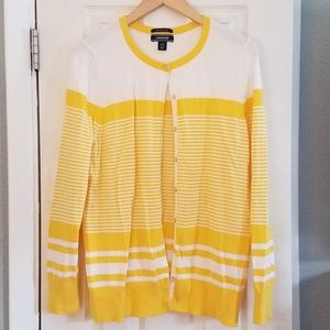 Lands End striped cardigan size Large Tall